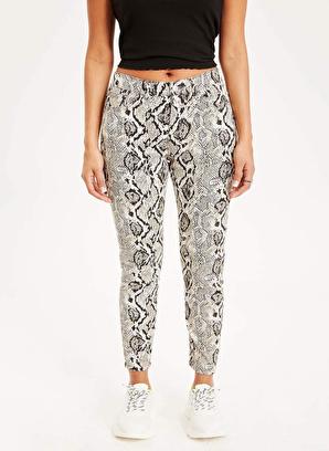 DeFacto Super Skinny Fit Yılan Desenli Chino Pantolon